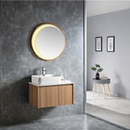 Hot Sale Wall Mounted PVC Luxury Bathroom Cabinet Best Price Bathroom Vanity Cabinet With LED Mirror 6512-75