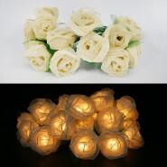 Handmade Home Decoration Lighting Rose Flower Design String Lights For Holiday, Party, Wedding, Chri
