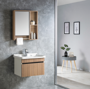 2019 Best Selling Bathroom Cabinet High Class Waterproof Bathroom Vanity Cabinet PVC+Aluminum Bathroom Cabinet 6515-60