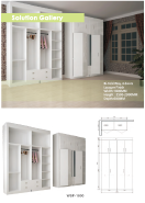 New Arrived Quick Lead Simple Design Wardrobe WR