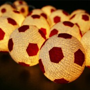 Football/Soccer Design Handmade Cotton Thread Balls String Lights For Christmas Decor Wedding Garden