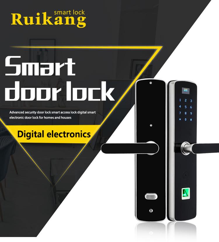 Cheap frameless glass door electric door lock