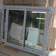 hot sale upvc material Europe stype sliding window with fiberglass flynet