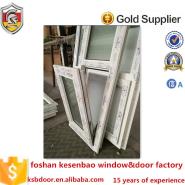 2016 latest cheap house window upvc bottom hung inside open window