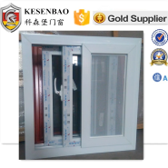 great selling Powder coating surface modern office upvc sliding windows with mosquito net