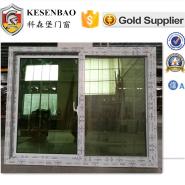 Cheap plastic steel safety glass economic sliding PVC window