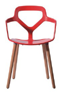 PP seat,the base made in Beech