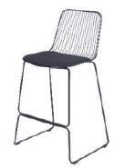 Powdercoated steel+farbic seat