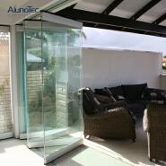 New Design Stainless Steel Frameless Glass Folding Door Hardware For Office
