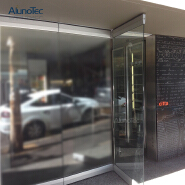 Exterior Bifold Design Partition Frameless Glass Folding Doors For Hotel And Office