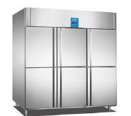Commercial Restaurant Kitchen 6 door Stainless steel chiller fridge refrigerator freezer