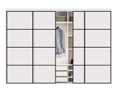Best Choice High Quality Popular Design 4 Sliding Door Storage Cabinet Bedroom Wardrobe