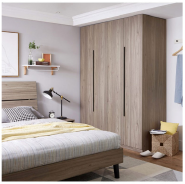 Brand New Quality Assured Latest Designs large storage modern design 4 doors wooden wardrobe for bedroom