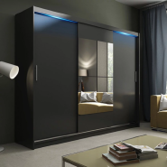 Superior Quality Latest Design Modern WARDROBE 1 Mirror 3 Sliding Doors Bedroom Wardrobe