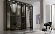 Promotional Quality Guaranteed Customized Design modern bedroom design glass door wardrobe