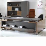 luxury PU office furniture executive leather desk W11 CEO boss leather office desk