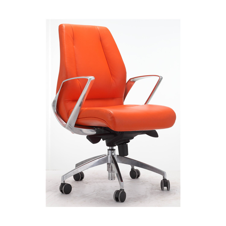 Middle back leather office chair price good for marketing YS1517B