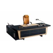Leather PVC upholstery boss modern director office table design F65 office boss table desk