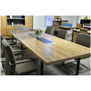 modern walnut marble conference table specifications 202-MT01 meeting desk table