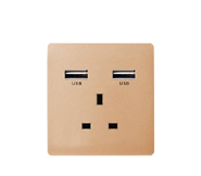 Free Sample British Wall UK Double Standard USB Socket British Standard Electrical Sockets Standard