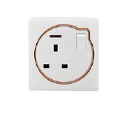 Factory 1 Gang Way 13A Wall 3 Pin Switch And Socket Low Price British Switch With Sockets Switched