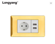 With USB 16A European Socket Germany Socket Wall Switches Sockets With USB Electrical Sockets