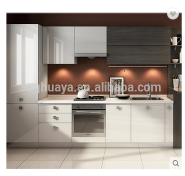 Factory cheap price high glossy white color UV kitchen cabinet