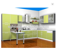 Economical And Practical Project PVC Kitchen Cabinet/UV board kitchen cabinet/high gloss lacquer kit