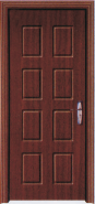 Best Seller Elegant Top Quality Personalized Design Yekalon MDF Door Modern Flush Design Interior Door Living Room Door Bedroom Door (PVD-026)