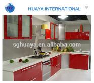 Modern Style PVC/Laquer/melamine/UV Kitchen Cabinet Design