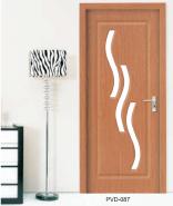 Best Selling Superior Quality Latest Design MDF door- modern flush design,glass door, interior door (PVD-087)