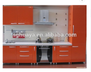 Economical And Practical Project PVC Kitchen Cabinet/UV board kitchen cabinet/complete chipboard kit