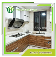 china supplier new model kitchen cabinet tempered glass