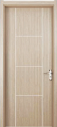 New Coming Super Quality Customization WPC door Flush series with groove design (WPD-003)