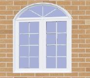 Best Selling Superior Quality Latest Design UPVC Window arch top sliding U-SG001