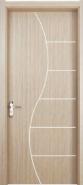 Sales Promotion High Quality Original Design WPC door Flush series with groove design (WPD-045)