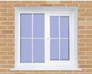 Hotselling Excellent Quality Nice Design UPVC window sliding america style U-CG001