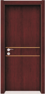 Professional Factory Supply Premium Quality Custom Fitted WPC door Flush series with groove design (WPD-005)