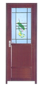 Hot Sell Hot Quality Fashionable Design Cool Door Styple Plastic Door For Bathroom WK005