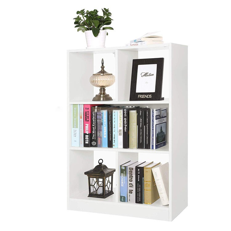 Wooden Bookcase Open Cubes Shelves, Free Standing Bookshelf Storage Unit Display Cabinet