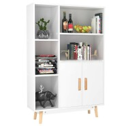 Sideboard Storage Cabinet Free Standing Cupboard Bookcase Storage Unit Display Shelf