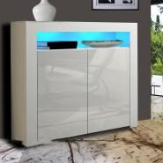 Modern LED Cabinet Cupboard Sideboard Matt Body and High Gloss Doors LED Light