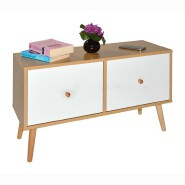 Sideboard Storage Unit with White Drawers Shelf Lowboard Sideboard Hi-Fi Cabinet Living Room Design
