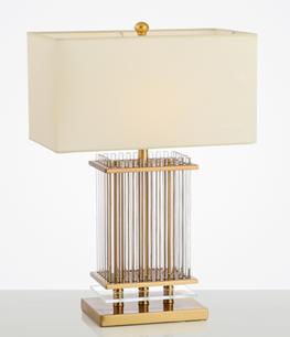Metal + fabric table lamp TF324
