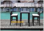 Rattan Bar Chair and Table