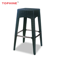 Commercial Contract TOPHINE Outdoor Furniture Bar / Restaurant Rattan Wicker Stool