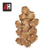 interior house lighting wall decor leaf shaped copper wall light