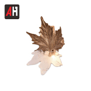 Zhongshan supplier quality small leaf shape luxury wall art wall lamps for home