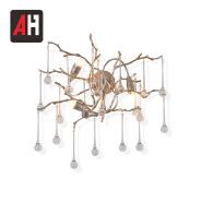 Sitting room decorative nordic fashion hardware round crystal wall light