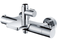 High end bathroom brass thermostatic shower mixer